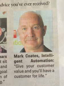 Mark in the news Business expo quote